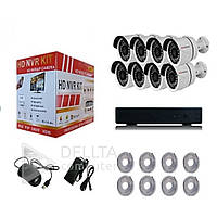Комплект видеонаблюдения Fosvision NVR 8-ми канальный, 2mp, Wi FI, комплект видеонаблюдения, комплект 8-ми