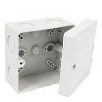 Коробка распределительная с резинками Rhodiola белая, пластиковая на 6 выводов, 125х125х60см, коробка распределительная, коробка с резинками