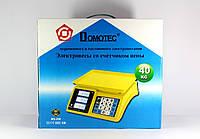 Весы торговые Domotec ACS MS 266, 4V, максимальный вес 40 кг, шкала деления 5 г, настольные весы, весы для