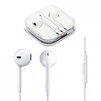 """Наушники проводные со встроенным пультом и микрофоном """"Apple iphone"""" белые, наушники вкладыши, наушники с"""