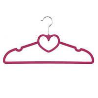"""Вішалка з велюровим покриттям """"Серце"""" R85331 рожевий, в упаковці 10шт, 40см, вішалки і тремпели, вішалки,"""
