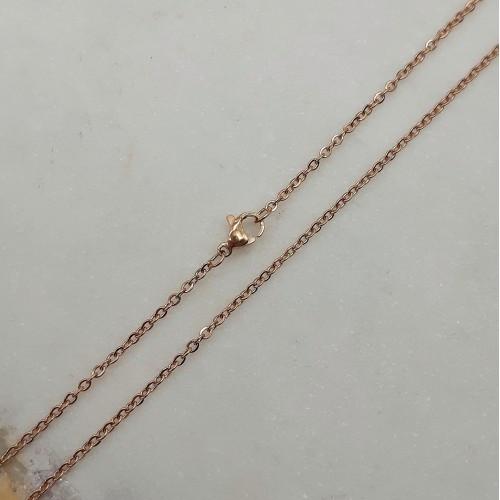 Цепочка из медицинской стали женская якорное плетение золотое покрытие 50 см 176172