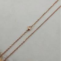 Цепочка из медицинской стали женская якорное плетение золотое покрытие 50 см 176172, фото 1