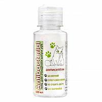 Антибактериальный гель ANTIBACTERIAL для очищения рук, 100мл, не менее 60% спирт, не сушит кожу, антисептик,