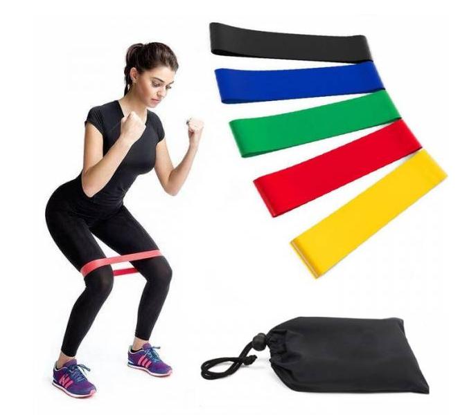Набор фитнес-резинок Eronstyle 5 шт и мешочек для хранения | Эспандер тренажер