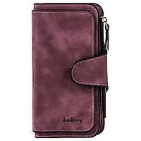 Жіночий гаманець портмоне Baellerry Forever 2345 бордовий, 14 відділень, еко шкіра, гаманець, жіночі гаманці,
