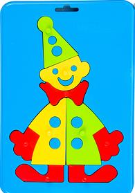 """Игрушка развивающая Wader Baby Puzzles """"Клоун"""""""