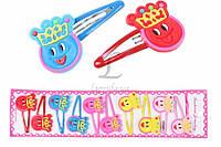 Дитяча шпилька тік-так для волосся Butia різні кольори, ціна за 10шт, заколки, шпильки дитячі, фото 1