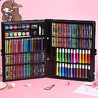 Набор для рисования и творчества, Чемоданчик с фломастерами, карандаши для детей, Art Set 150 предметов