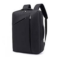 """Сумка-рюкзак, трансформер для ноутбука 15,6"""" противоударный, черный цвет ( код: IBN014B )"""
