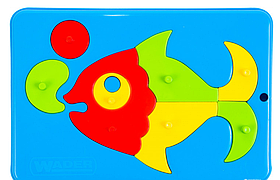 """Игрушка развивающая Wader Baby Puzzles """"Рыбка с пузырьками"""""""
