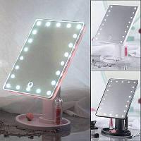 Дзеркало для макіяжу з LED підсвічуванням Large Led Mirror 16 LED, від батарейок АА, сенсор, дзеркало, дзеркала з підсвічуванням, дзеркала для макіяжу