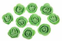Искусственный латексный бутон розы для декора, 200шт, зеленые, искусственные цветы, латексные розы, розы для