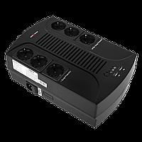 Источник бесперебойного питания Logic Power 6 евророзеток, пластик, 595Вт, 12V, 8,0Ah, линейно-интерактивный,