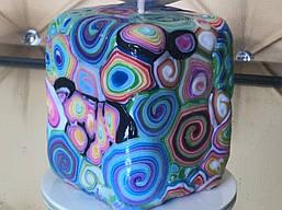 Квадратна декоративна свічка ELITE CANDLES кольору Марсала для інтер'єру чи подарунка