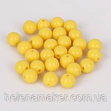 Набор пластиковых бусин 8 мм 10 шт. Цвет желтый.