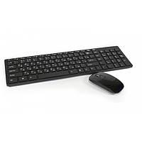 Бездротова клавіатура і миша UKC K-06 чорна, 12 функціональних клавіш, оптична миша, від батарейок