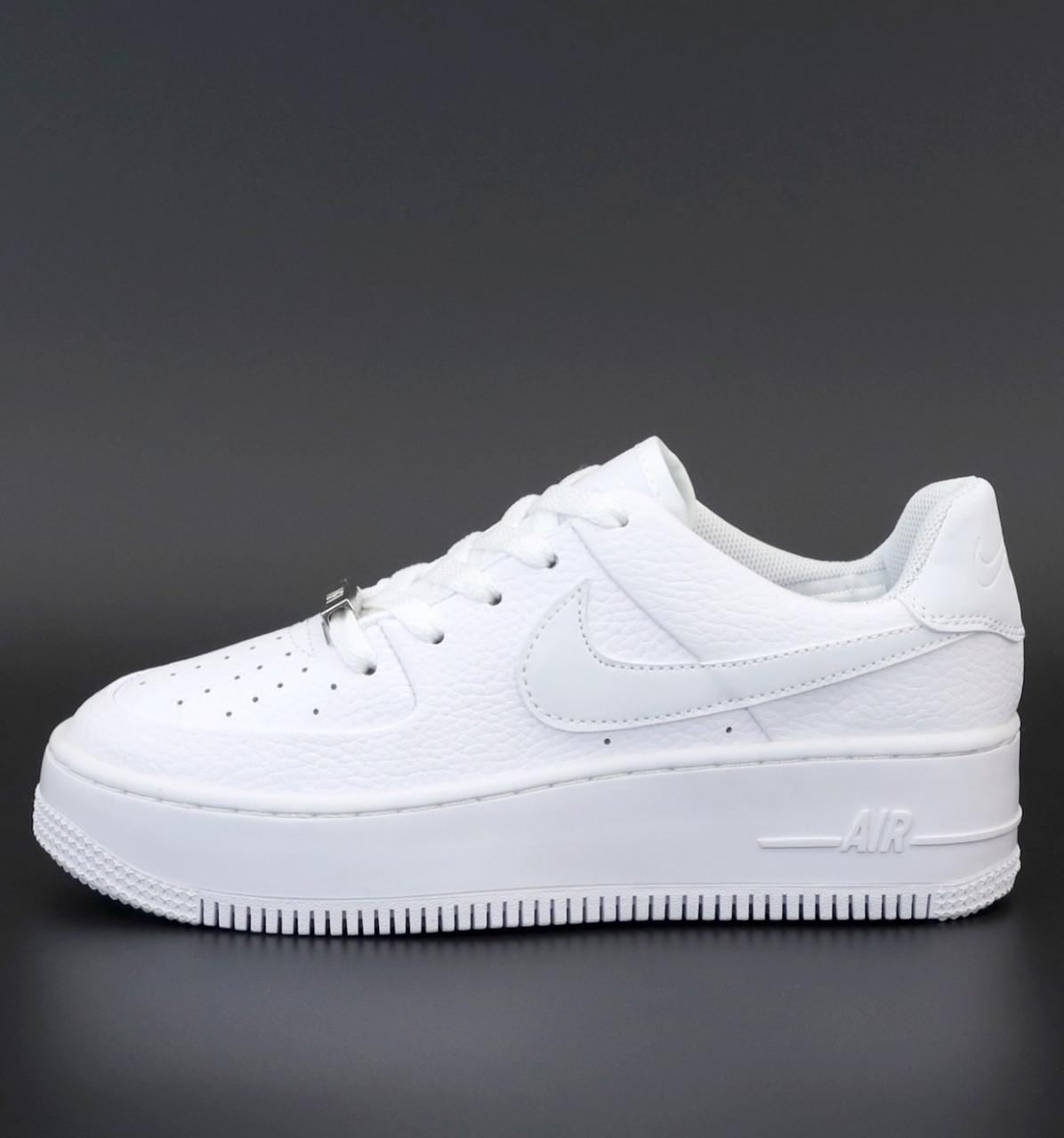 Женские кроссовки Nike Air Force 1 Sage White, Найк аир форс