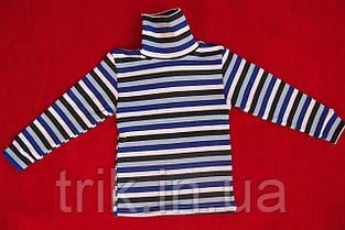 Водолазка теплая детская черная полоска, фото 2