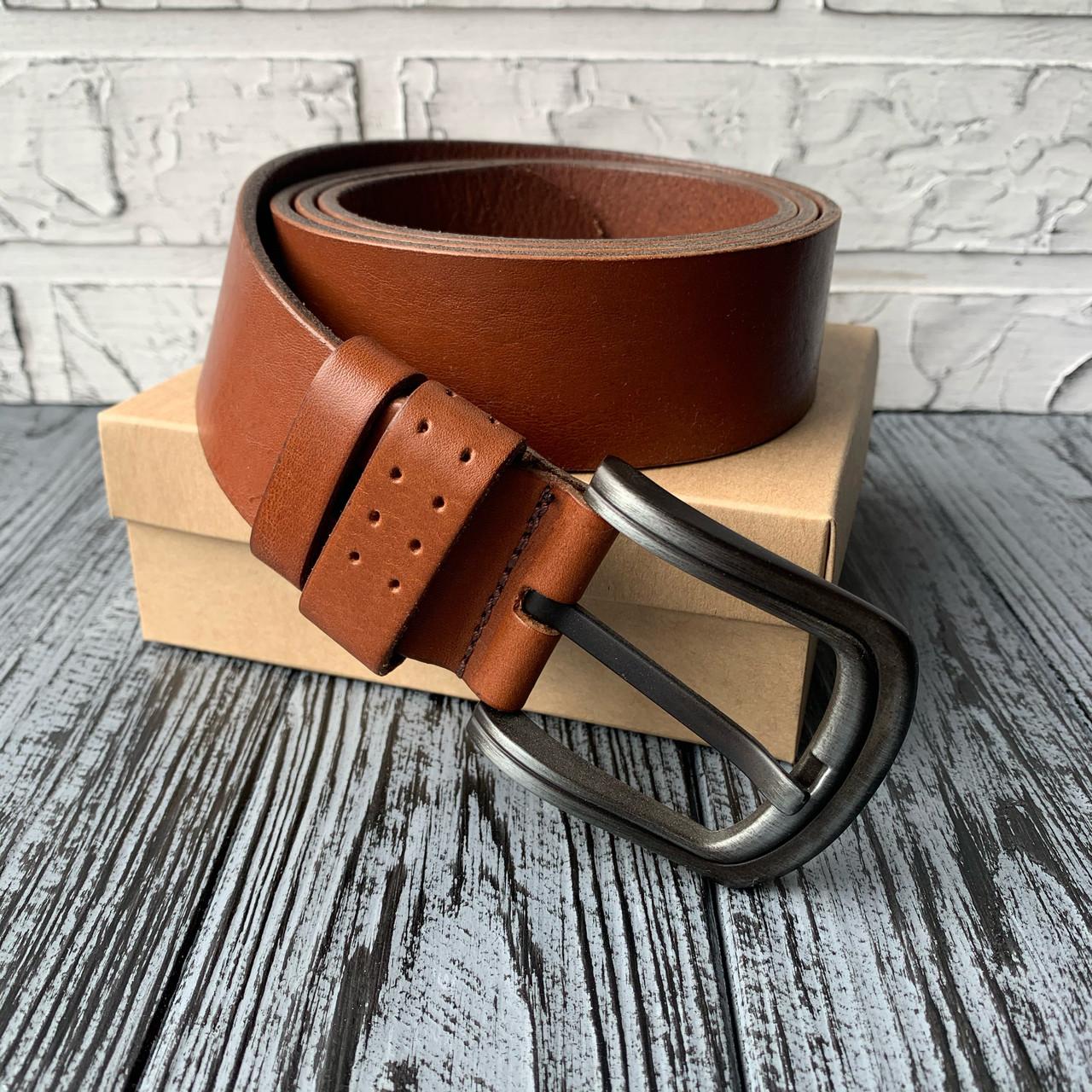 Ремень I&M Craft из натуральной кожи коричневый (R100133)
