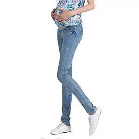Джинси для вагітних блакитні стрейчеві розмір М