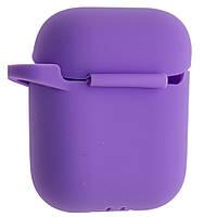 """Чехлы для AirPods - """"Purple"""", с карабином, силиконовые"""