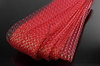 Синтетическая лента регилин Pitcairnia для шитья, мягкий, 22x7см, красный, лента для шитья, регилин