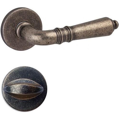 Ручка дверная DND by Martinelli DANIELA + накладка под WC античное железо