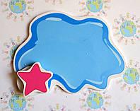 Магнитный стенд для крепления рисунка Клякса Синий