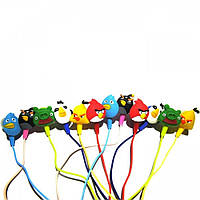 """Наушники проводные вакуумные для детей """"Angry Birds"""" разные цвета, вакуумные наушники, наушники затычки"""