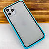 """Прозрачный TPU+PC чехол Epic с цветным бампером для Apple iPhone 11 Pro Max (6.5""""), фото 2"""