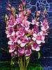 Ветка гладиолуса круглого (100 шт) искусственные цветы