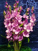 Ветка гладиолуса круглого (100 шт) искусственные цветы  , фото 1
