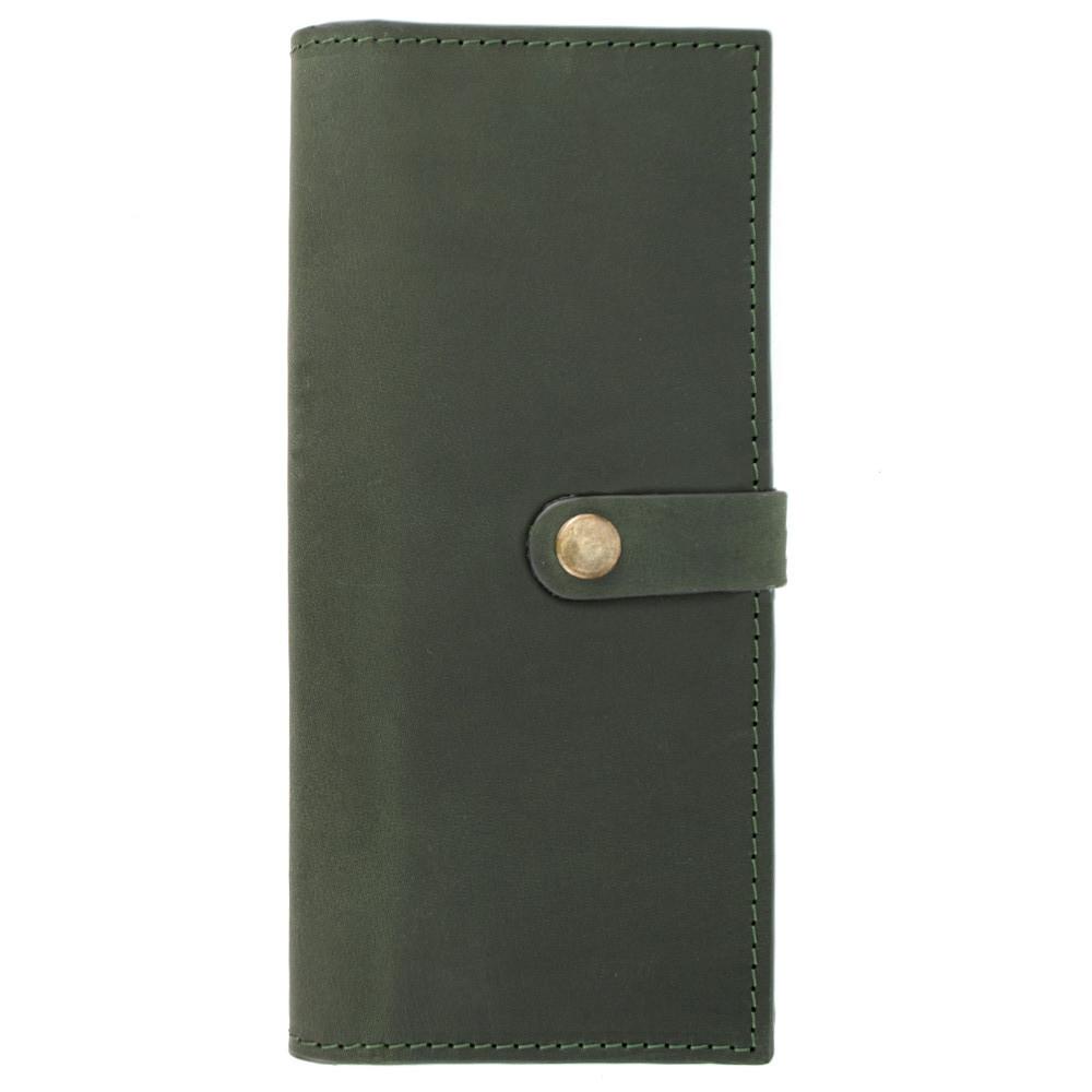 Жіночий шкіряний гаманець великий Handycover HC0046 зелений