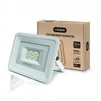 Прожектор светодиодный Videx VL-Fe105W 10W, 5000K, 220V, 120°, белый, прожектора Videx, уличный светильник,