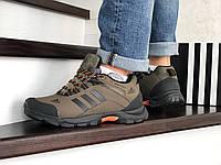 Кроссовки мужские Adidas Climaproof  осенние теплые удобные спортивные (зеленые), ТОП-реплика, фото 1