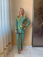 Пижама женская Цветочки Желтые цветы Кашемир