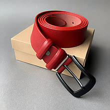 Ремень I&M Craft из натуральной кожи красный (R100134)