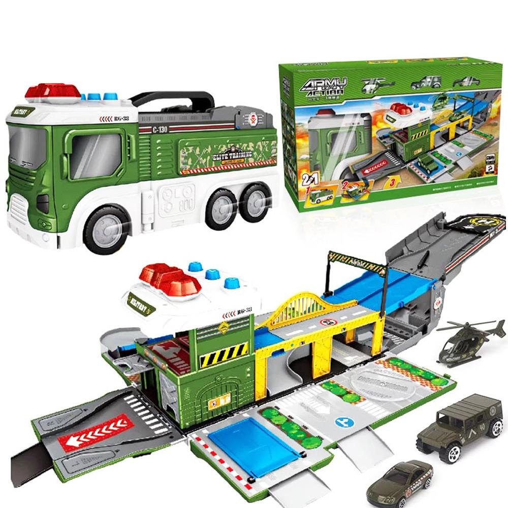 Детский игровой гараж-паркинг Военная база LA-035
