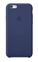 Чехол кожаный с логотипом Apple Iphone 5 - Синий (High Copy)