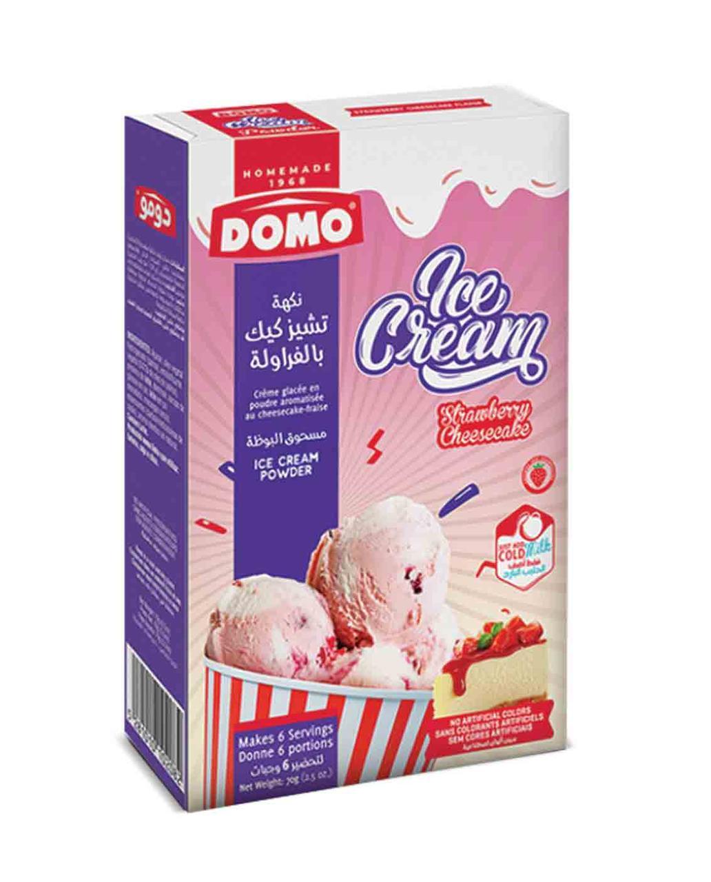 Сухое домашнее мороженное клубника-чизкейк 6 порций