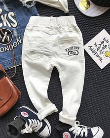 Штани дитячі на хлопця стрейчеві білі 2-6 років