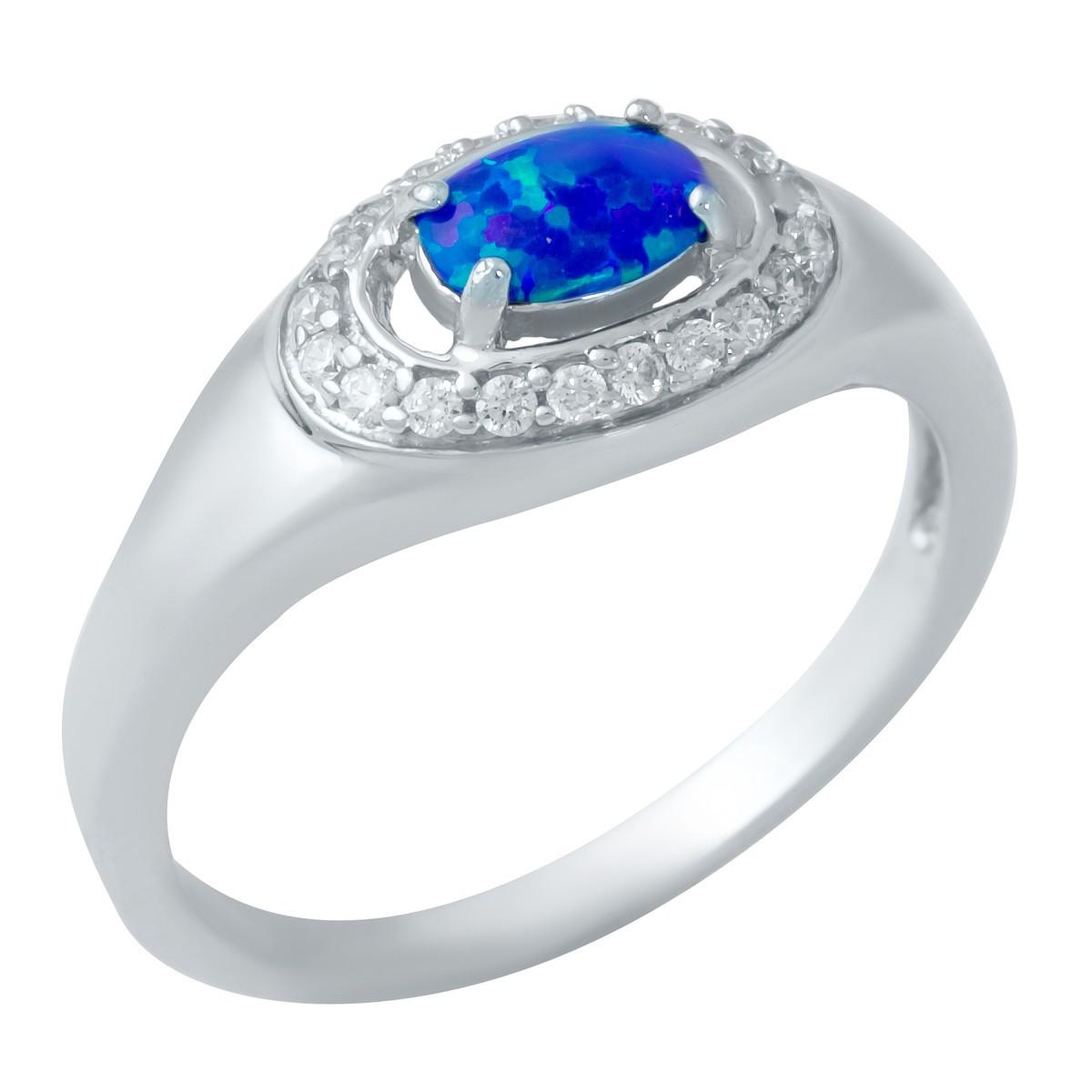 Серебряное кольцо DreamJewelry с опалом (1948279) 17.5 размер