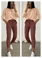 Жіночий стильний костюм, брюки і кофта Норма, фото 1