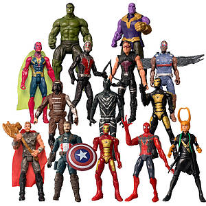 Набір фігурок 14в1 Месники, 17 см - Marvel, Avengers, action figures
