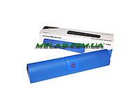 Портативная Bluetooth колонка T2002 miniUSB/AUX/FM/microSD, 2000mAh, синяя, микрофон
