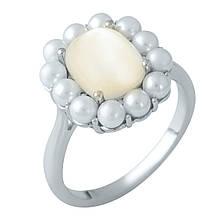 Серебряное кольцо DreamJewelry с натуральным перламутром, жемчугом (1980361) 18.5 размер