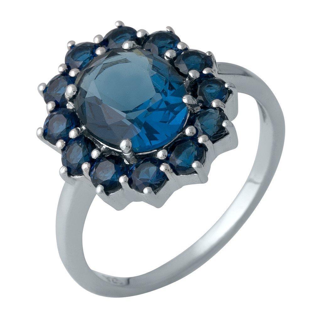Серебряное кольцо DreamJewelry с сапфиром nano 3.19ct (1988602) 18 размер