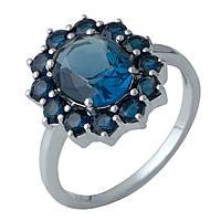 Серебряное кольцо DreamJewelry с сапфиром nano 3.19ct (1988602) 18 размер, фото 1