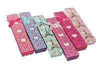 Подарочные коробочки для бижутерии разноцветные с бантиками Westringia, разные цвета, 21x4см, коробочки для